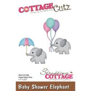 Cottage Cutz, Stanzschablone - Baby Shower Elephant