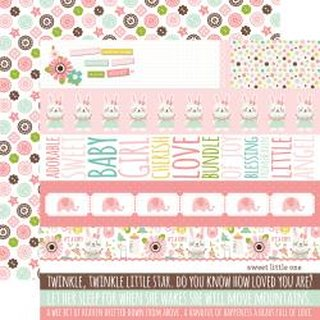 Echo Park, Designpapier, Sweet Baby Girl - Border strips