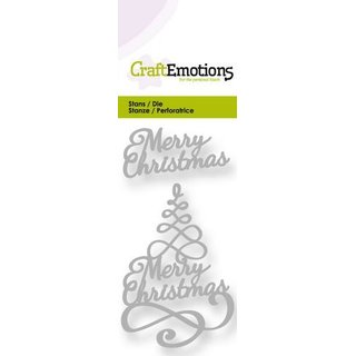 CraftEmotions, Stanzschablone - Merry Christmas Tree