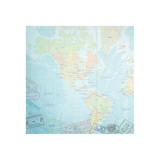 Paper House, Travel Paper - World Travel Western Hemisphere Map