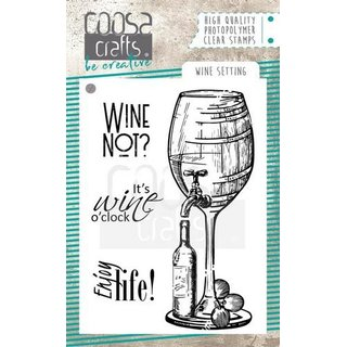 COOSA Crafts Clearstamps, Wine Setting