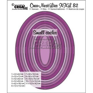 Crealies, Crea-nest-Des  XXL Nr.82 Ovales with small circles