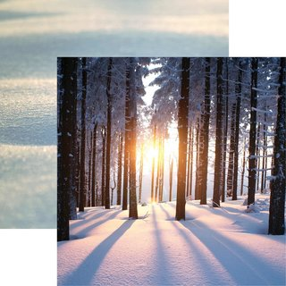 Reminisce, Designpapier, Snow Day - Sunset