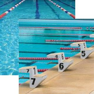 Reminisce, Designpapier, Swim Team - Starting Blocks
