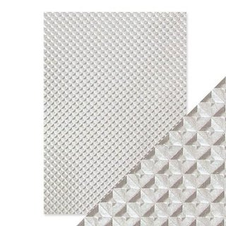 Tonic Studios, A4 Hand crafted cotton papers, 150gsm - silver chequer