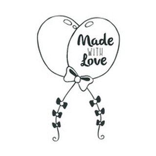 Aladine, Rubber Stamp Made With Love Balloons