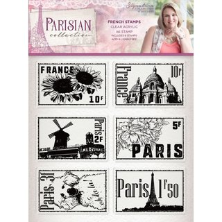 Sara Signature Collection Parisian - A6 Acrylic Stamp - French Stamps