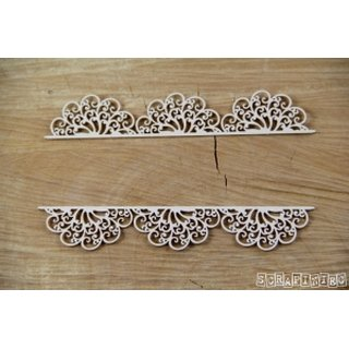 Scrapiniec, Chipboards - Doily Lace - Lace borders 03