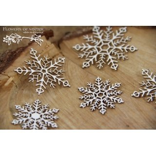 Scrapiniec, Chipboards - Flowers of winter - snowflakes