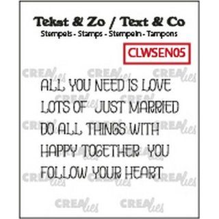 CREAlies, Clearstamp - Texte word strips LOVE (englisch)