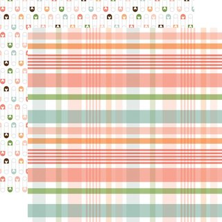 Echo Park, Designpapier Baby Girl - new arrival plaid