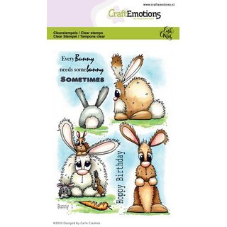 CraftEmotions, Clearstamp - Bunny 1