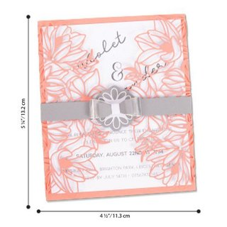 Sizzix, Stanzschablone, Thinlits Die Set - Floral Wrap