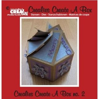 Crealies, Create A Box Nr. 2 - Box sechsseitig