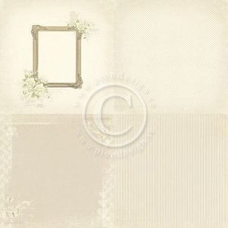 PIONdesign, Designpapier, Vintage Wedding, 4x 6x6, Photo frame