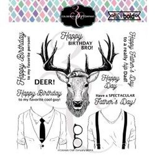 Colorado Craft Company, Clearstamps 6x6 - Hipster Deer-Big & Bold